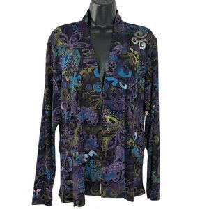 Chico's Travelers Jacket Printed Multicolored